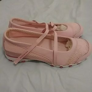 Authentic Sketchers Pink/White Velcro Shoes